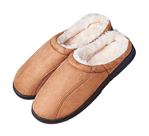 La Plage Men S Slip On Backless Moccasin Memory Foam Bedroom Slippers Grand M2